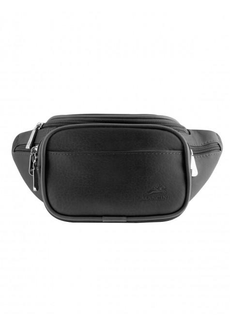 Mancini COLOMBIAN Collection Classic Waist Bag - Black