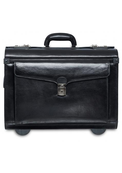 Mancini SIGNATURE Deluxe Wheeled Catalog Case - Black
