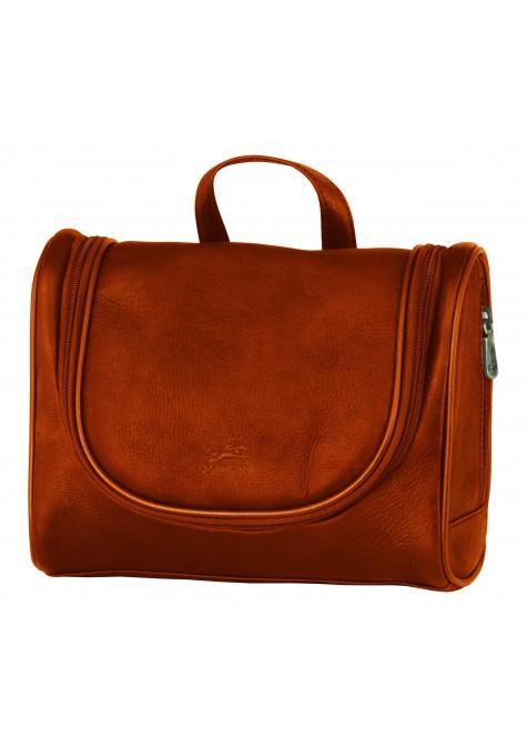 Mancini COLOMBIAN Collection Deluxe Toiletry Kit - Cognac