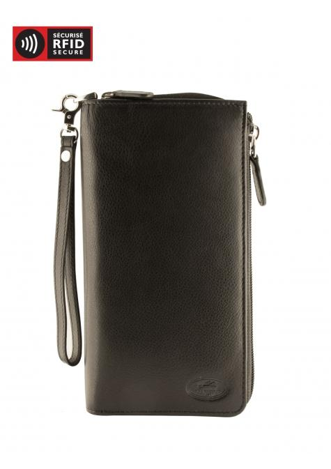Mancini MANCHESTER Ladies' Trifold Wallet (RFID Blocking) - Black
