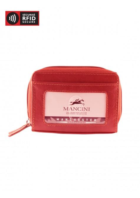 Mancini MANCHESTER Accordion Credit Card Case - Red