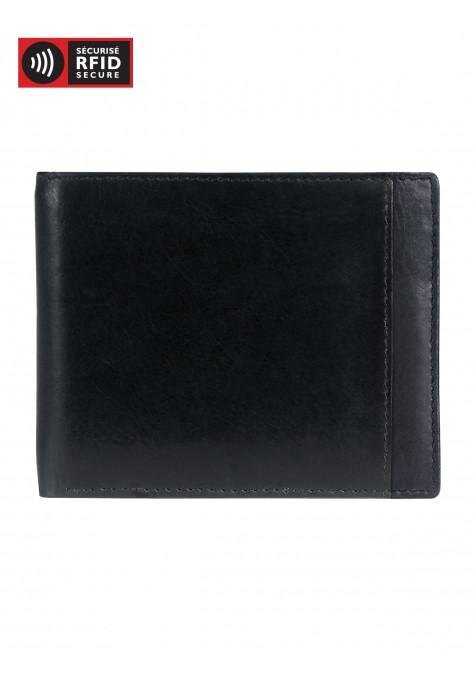 Mancini CASABLANCA Collection Men's Billfold with Removable Passcase (RFID Secure) - Black