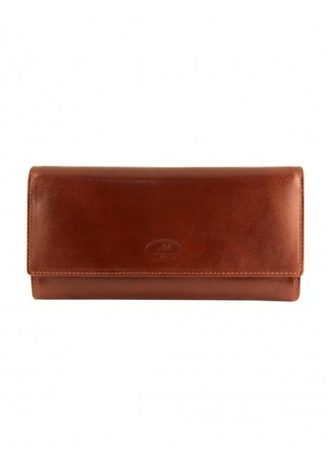 Mancini EQUESTRIAN-2 Collection Ladies' Trifold Wallet - Brown