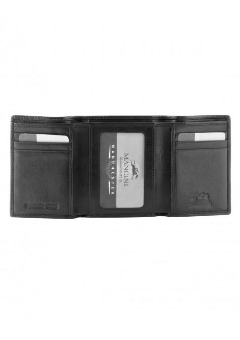 Mancini MANCHESTER Men's Trifold Wing Wallet