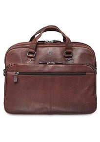 Mancini BUFFALO Expandable Double Compartment Briefcase for 15.6 Inch Laptop / Tablet