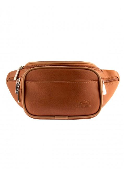 Mancini COLOMBIAN Collection Classic Waist Bag - Cognac