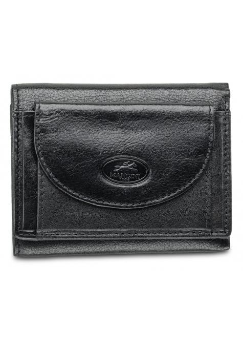 Mancini EQUESTRIAN-2 Men's Trifold Wing Wallet - Black