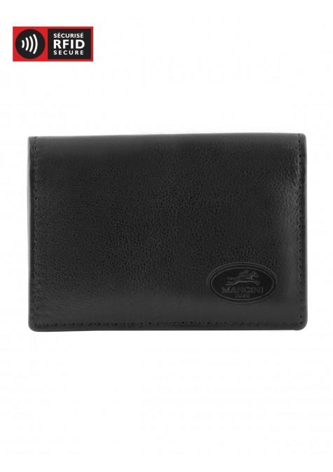 Mancini MANCHESTER Expandable Credit Card Case - Black