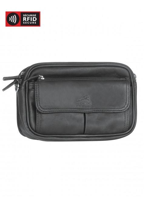 Mancini COLOMBIAN Collection Compact Unisex Bag - Black