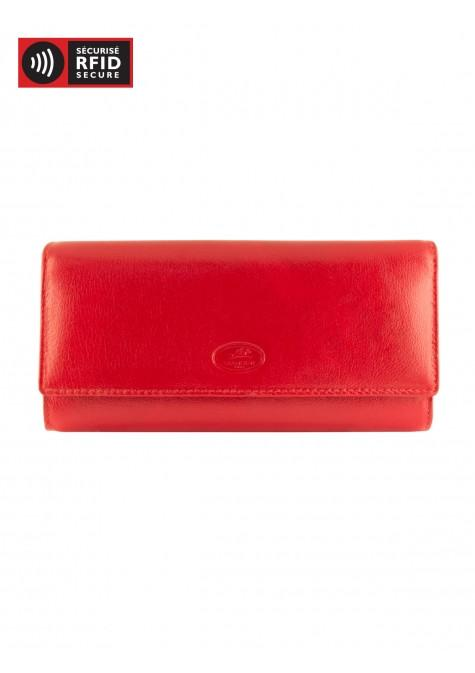 Mancini EQUESTRIAN-2 Collection Ladies' Trifold Wallet - Red