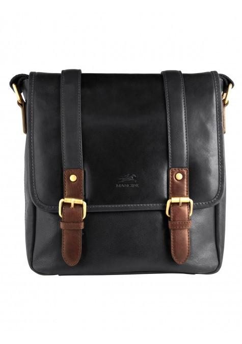 Mancini CALABRIA Collection Crossover Bag for Tablet - Black