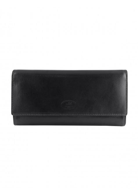Mancini EQUESTRIAN-2 Collection Ladies' Trifold Wallet - Black