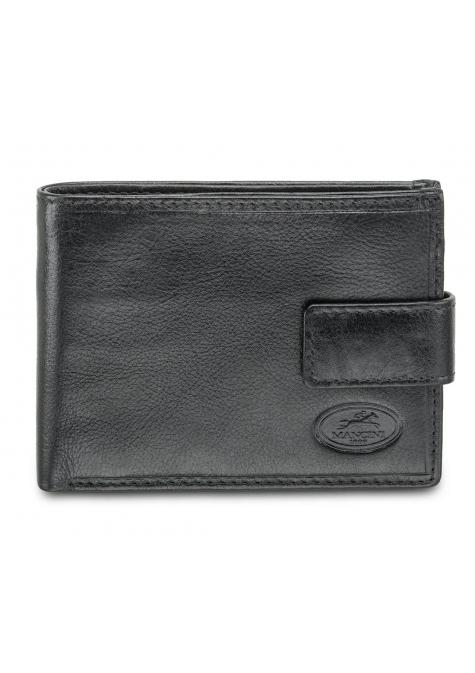 Mancini EQUESTRIAN-2 Men's Wallet with Coin Pocket - Black