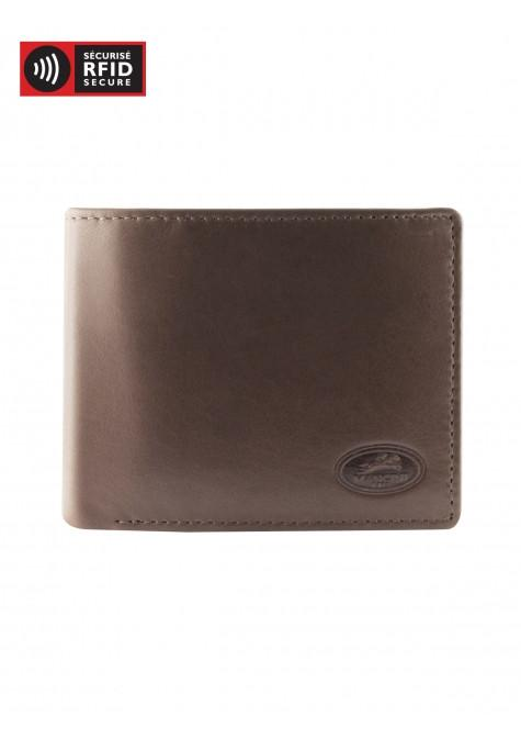Mancini MANCHESTER Men's Left Wing Wallet - Brown