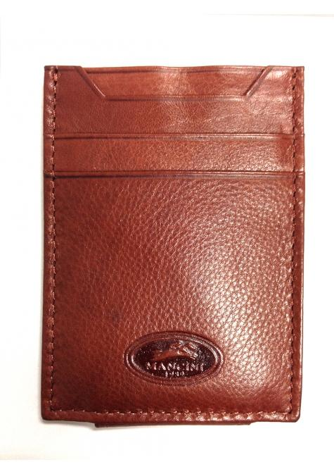 Mancini Manchester Deluxe Leather Bill Clip - Cognac