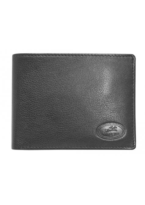 Mancini MANCHESTER Men`s RFID Secure Billfold with Removable Center Wing Passcase - Black