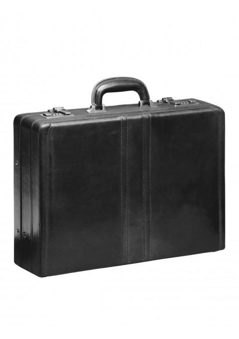 Mancini SIGNATURE Collection Luxurious Expandable Attaché Case - Black