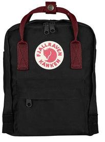Fjallraven Kanken Mini Backpack - Black - Ox Red