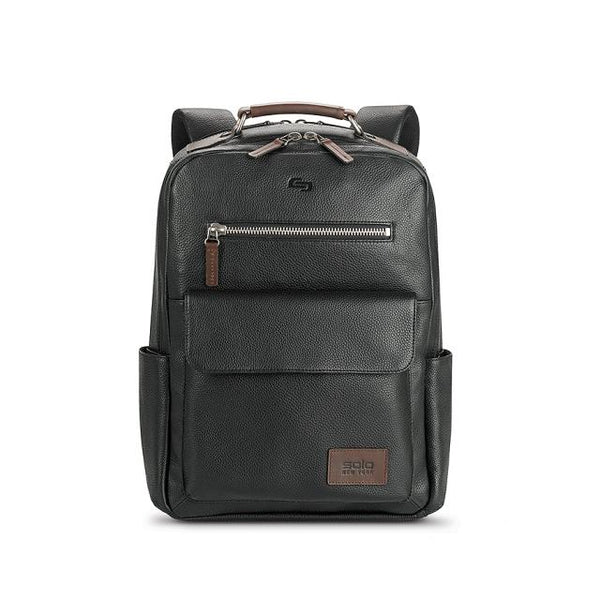 Solo Roadster Collection Kilbourn Leather Backpack - Black/Espresso
