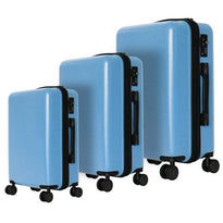 Trochi Linear 3 Piece Anti-Theft Spinner Luggage Set