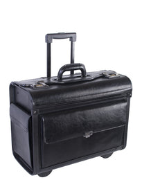Nextech Leather Wheeled Business Case With Removable Portable Laptop Sleeve