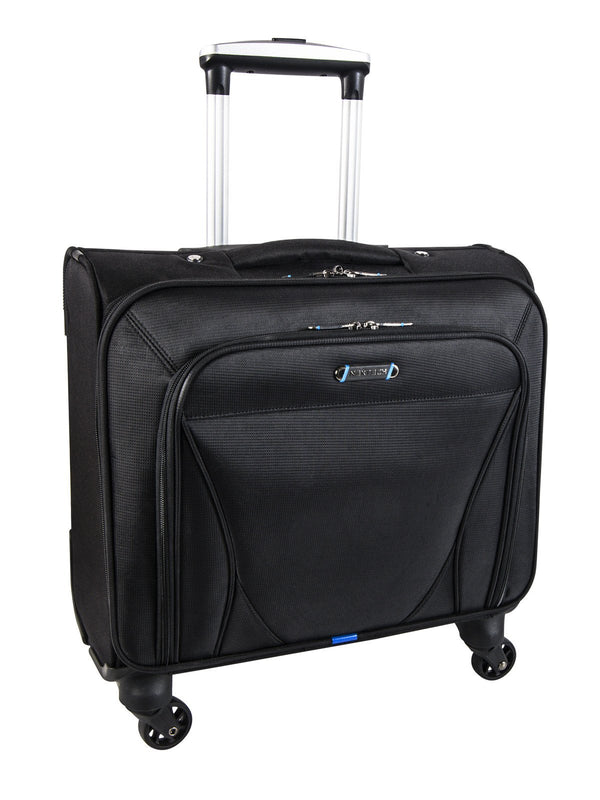 "Nextech Augusta 15.6"" Laptop 4-Wheel Rolling Spinner Business Case - Black"
