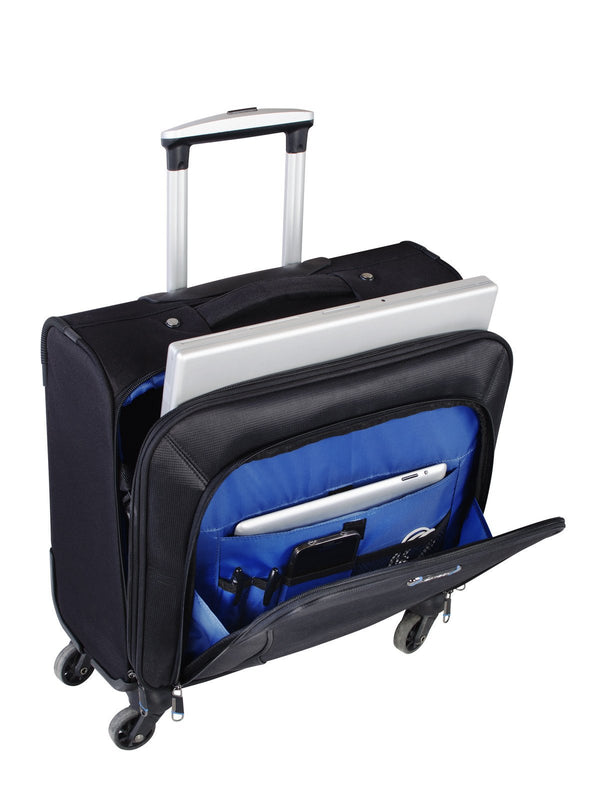 "Nextech Augusta 15.6"" Laptop 4-Wheel Rolling Spinner Business Case"