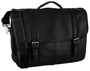 Nextech 10 Inch Tablet and 15.6 Inch Laptop Leather Flapover Briefcase