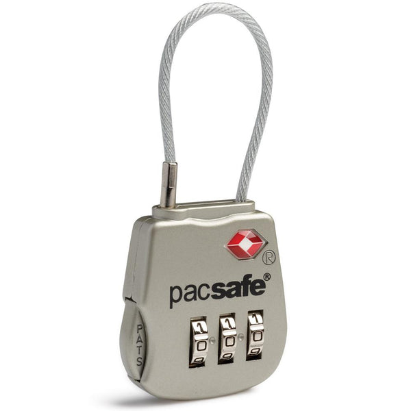 Pacsafe Prosafe® 800 TSA accepted 3-dial cable lock