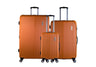 Trochi Knight 3 Piece Hardside Expandable Spinner Luggage Set - Orange