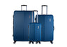 Trochi Knight 3 Piece Hardside Expandable Spinner Luggage Set - Blue
