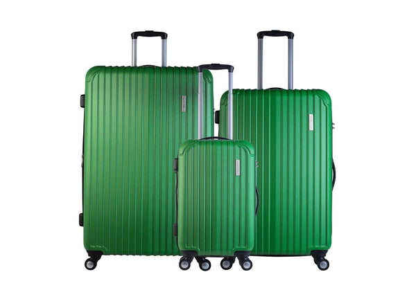 Trochi Knight 3 Piece Hardside Expandable Spinner Luggage Set - Apple Green