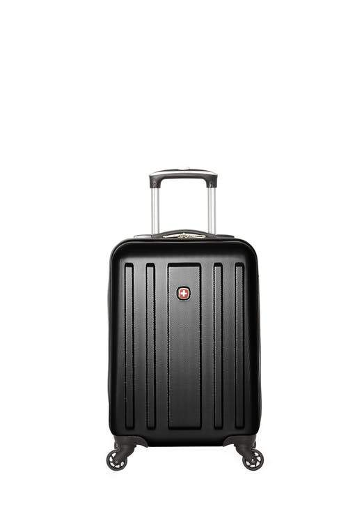 Swiss Gear ABS La Sarinne Lite Carry-On Moulded Hardside Spinner Luggage - Black