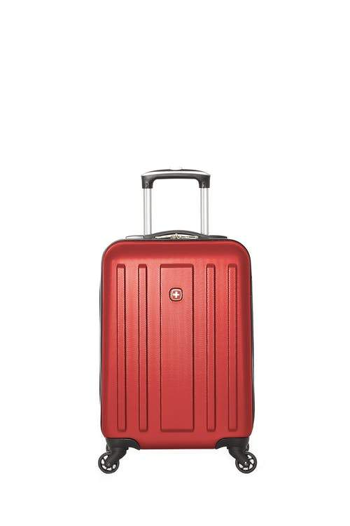 Swiss Gear ABS La Sarinne Lite Carry-On Moulded Hardside Spinner Luggage - Oxblood