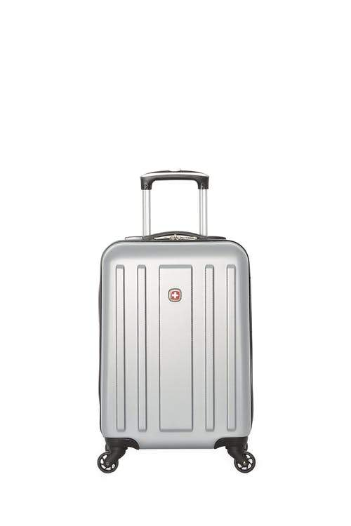 Swiss Gear ABS La Sarinne Lite Carry-On Moulded Hardside Spinner Luggage - Silver