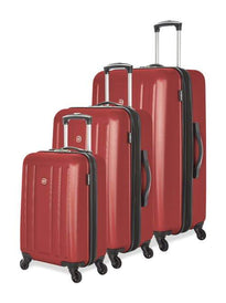 Swiss Gear ABS La Sarinne Lite 3 Piece Moulded Hardside Expandable Spinner Luggage Set