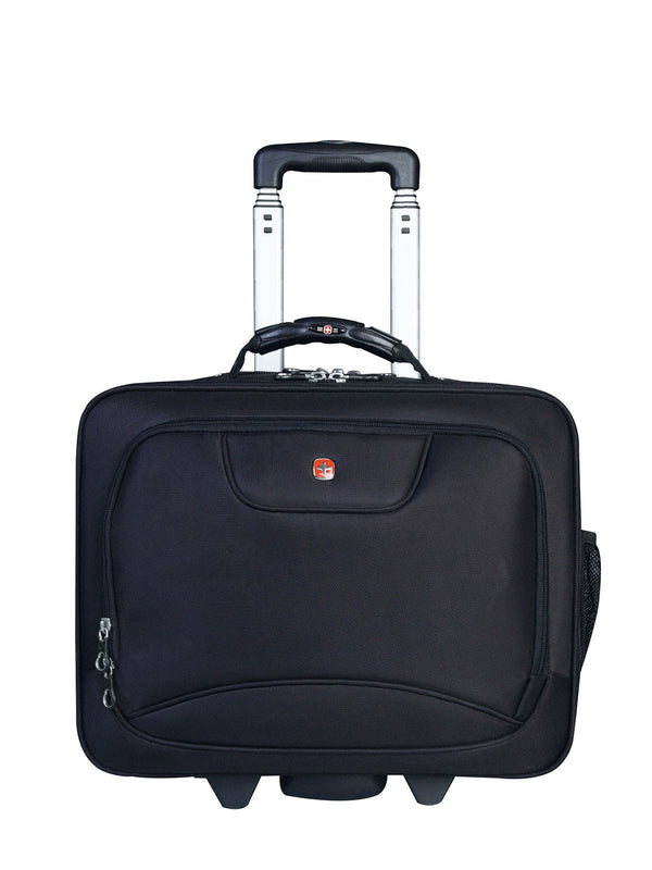 Swiss Gear Wheeled Business Case with Laptop Sleeve - Black