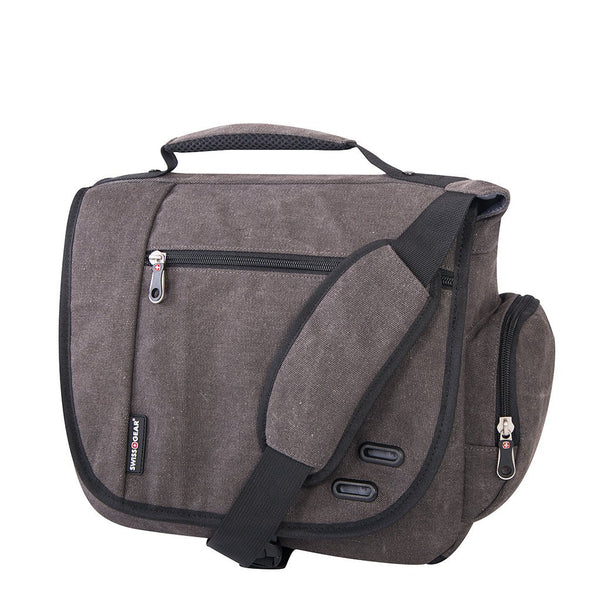 Swiss Gear Cotton Canvas Business Case with Laptop Section - Gray