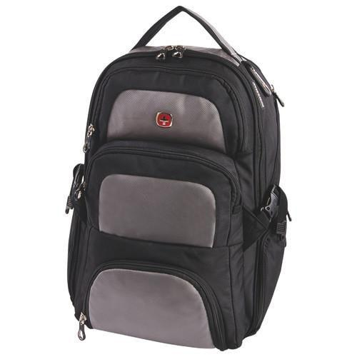 "Swiss Gear Laptop Backpack 17.3"" - Black-Grey"