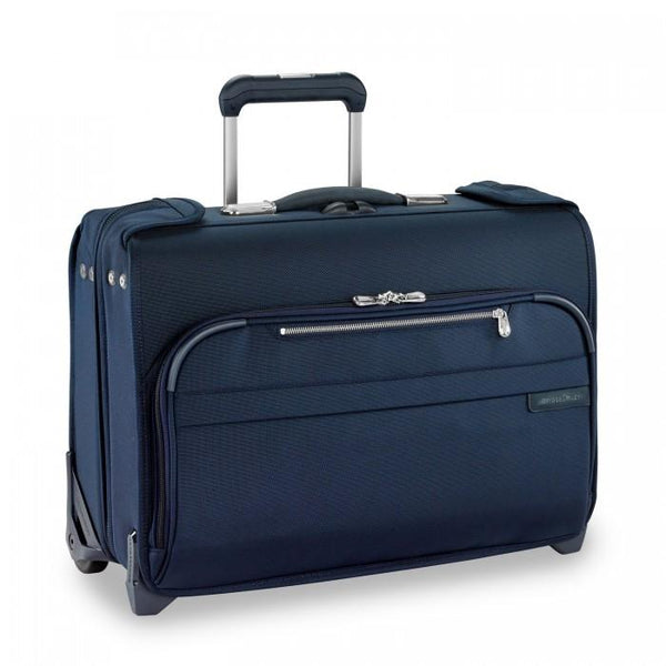Briggs & Riley Baseline Carry-On Wheeled Garment Bag - Navy
