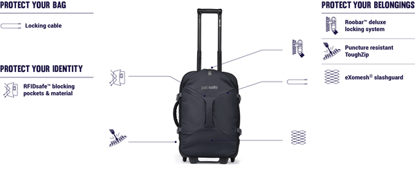 Pacsafe Venturesafe EXP21 Anti-Theft Wheeled Carry-On Luggage