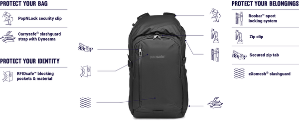 Pacsafe Venturesafe X30 Anti-Theft Backpack
