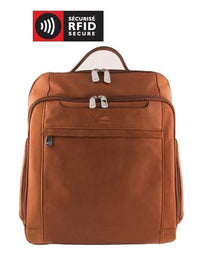 Mancini COLOMBIAN Collection Leather Backpack for Laptop and Tablet