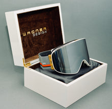 Load image into Gallery viewer, Limited Edition SKIBRILLE WD1811 BLACK & GOLD Luxus Geschenkset - WAGNER DESIGN