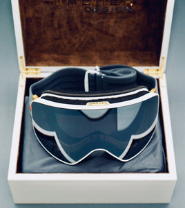Limited Edition SKIBRILLE WD1811 WHITE & GOLD Luxus Geschenkset - WAGNER DESIGN