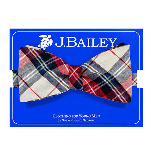 Shaw Plaid Bow Tie