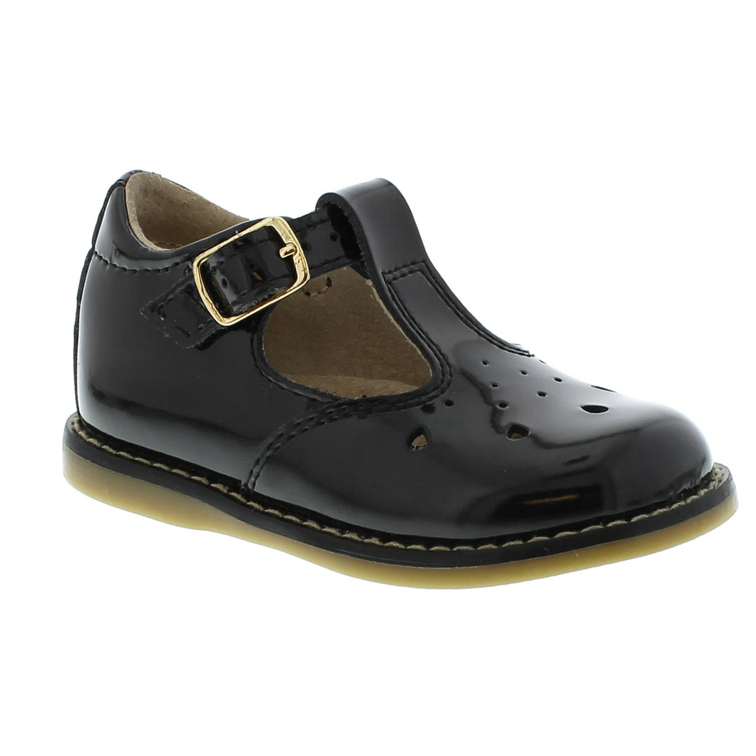 Footmates Harper Black Patent Leather