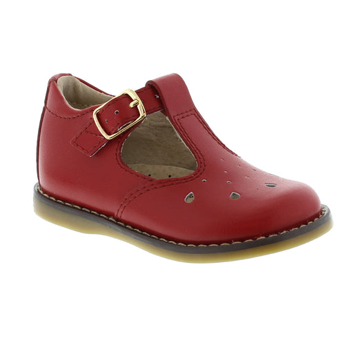 Footmates Harper Apple Red Leather