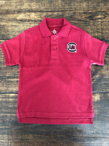GAMECOCKS GARNET POLO SHIRT