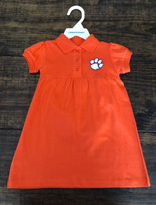 Clemson Polo Dress With Bloomers